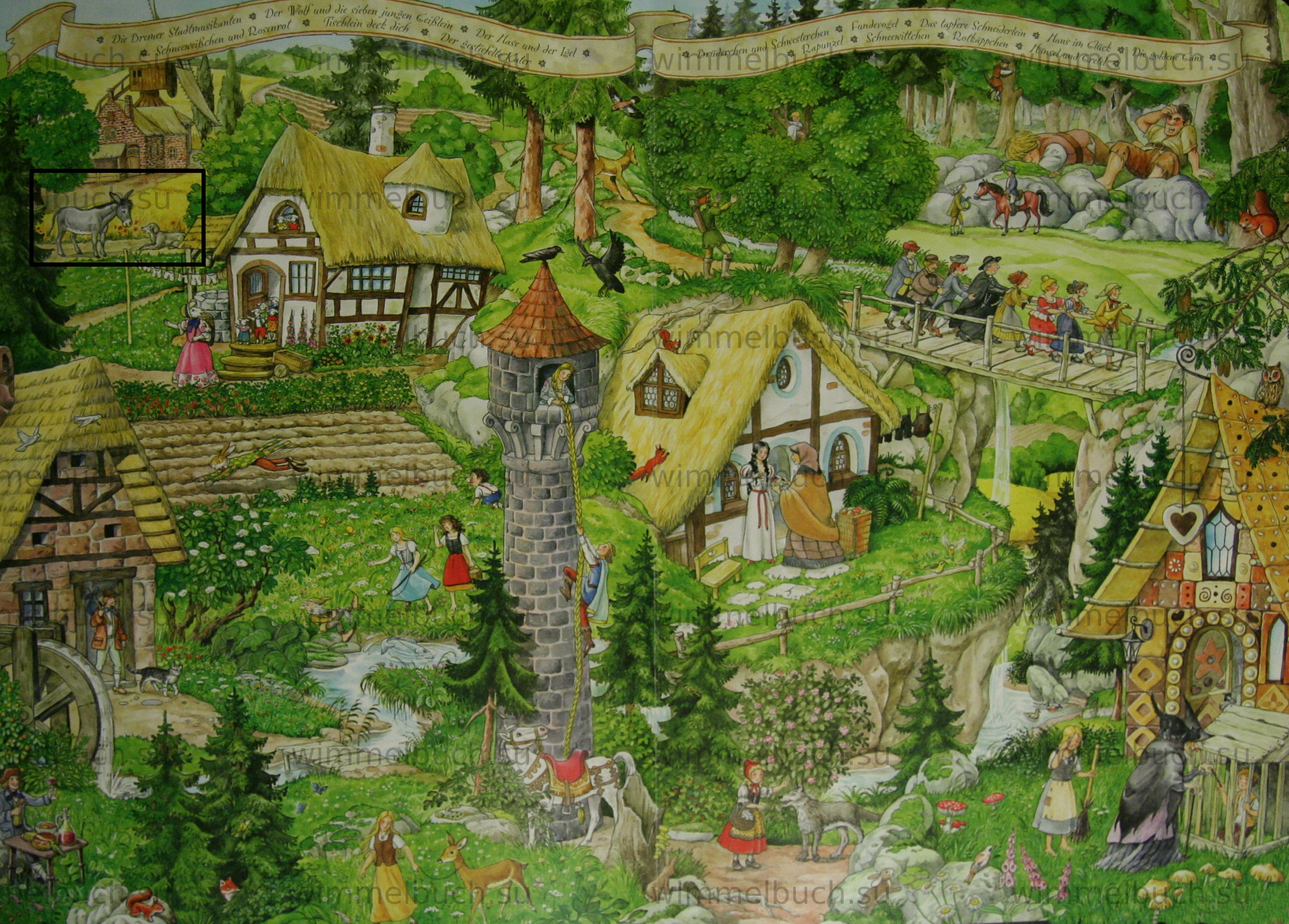 Бременские музыканты в Wimmelbuch Märchenland