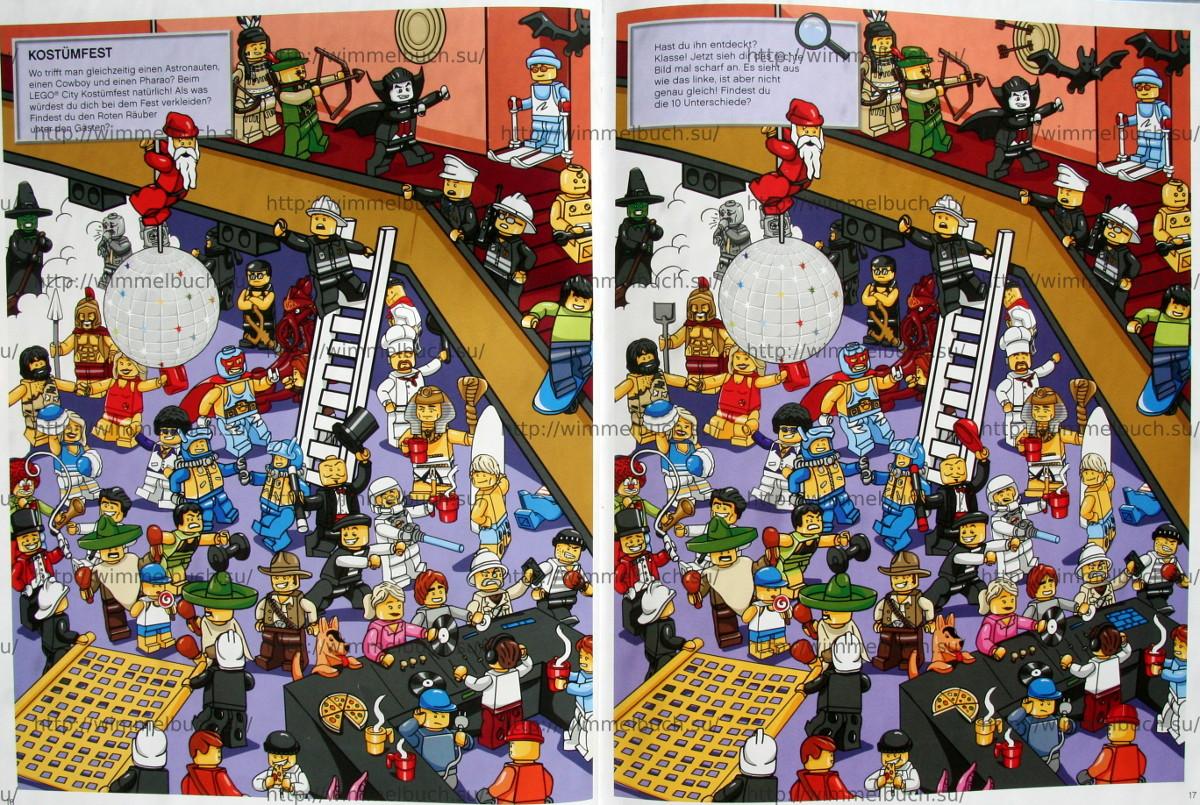 LEGO City Wimmelbuch Finde den Dieb. КОСТЮМИРОВАННАЯ ВЕЧЕРИНКА