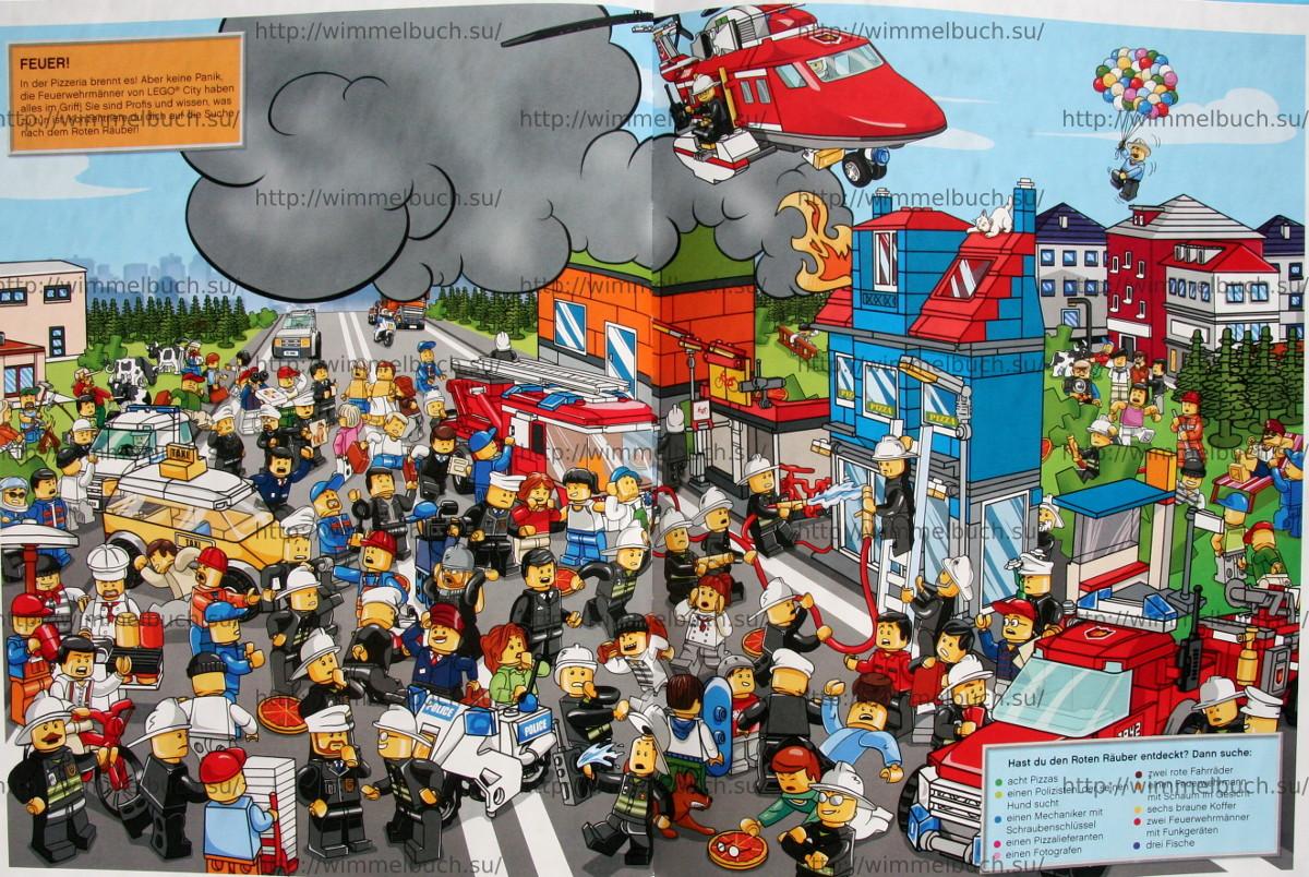 LEGO City Wimmelbuch Finde den Dieb. Огонь