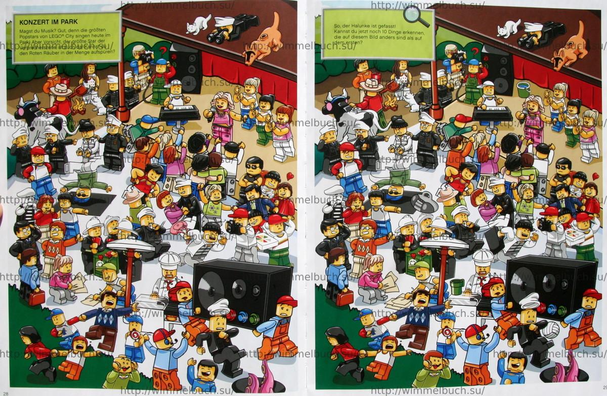 LEGO City Wimmelbuch Finde den Dieb. КОНЦЕРТ В ПАРКЕ