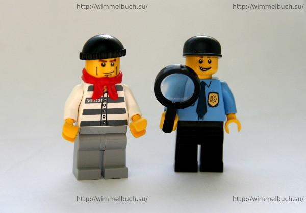 фигурки Lego из Обложка LEGO City Wimmelbuch Finde den Dieb
