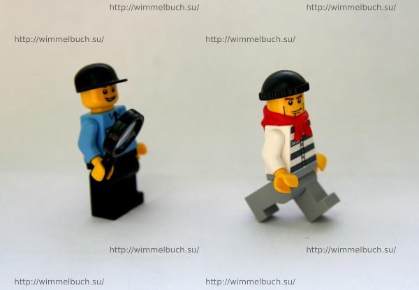 Человечки из книги LEGO City Wimmelbuch Finde den Dieb.